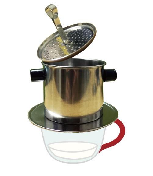 コーヒー豆を平らに。